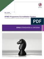2013 EPAS Standards and Criteria