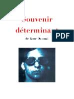 Souvenir Déterminant de René Daumal