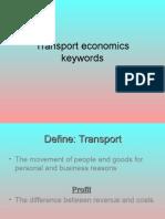 Transport Economics Keywords