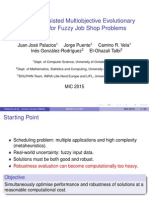 Surrogate-Assisted Multiobjective Evolutionary Algorithm for Fuzzy Job Shop Problems