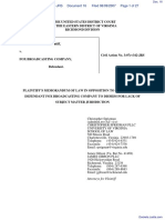 segOne, Inc. v. Fox Broadcasting Company - Document No. 16