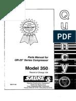 Manual de Partes Electro Compresor QUINCY QR-25