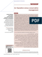 Fracture Clavicle Operative Versus Conservative