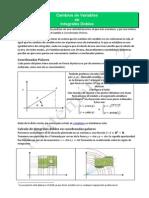 Integrales Dobles - Cambios Variables
