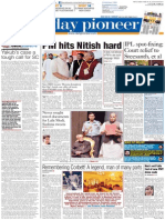 Daily pioneer 26-07-2015