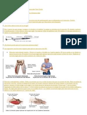 como se aplica una inyeccion intramuscular