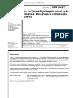 Abnt - Nbr Nm 87[2000]-aço Carbono E Ligados para Construção Mecânica-designação E Composição Química