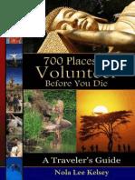 Kelsey - 700 Places to Volunteer Before You Die