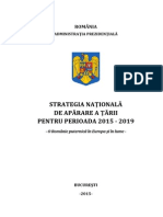 Strategia Nationala de Aparare a Tarii 2015