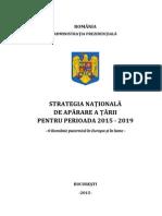 Strategia Nationala de Aparare a Tarii 2015