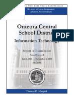 Audit of Onteora Information Technology