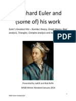 Leonhard Euler and Some of His Work