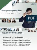 4. Manajemen persediaan