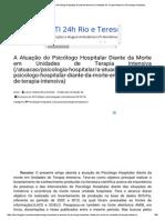 Psicologado_ a Atuação Do Psicólogo Hospitalar Diante Da Morte Em Unidades de Terapia Intensiva _ Psicologia Hospitalar