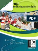 WorWic Credit Class Schedule