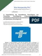 Psicologado_ a Importância Da Assistência Psicológica Em Pacientes Oncológicos _ Psicologia Hospitalar