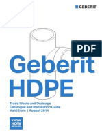 Geberit HDPE Catalogue Installation 2014