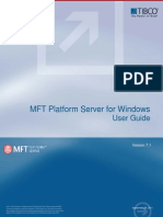 MFT Platform Server v7.1 for Windows User Guide
