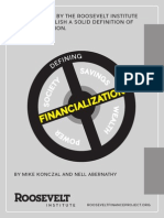 Defining Financialization