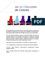 Fuentes Chocolate de Colores