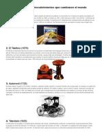 10 Inventos y Descubrimientos Que Cambiaron El Mundo