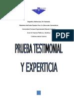Prueba Testimonial y Experticia
