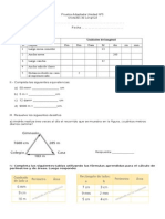 Prueba Adaptada Matemáticas 5° Básico