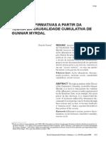 g. Myrdal -As Ações Afirmativas a Partir Da Causalidade Cumulativa