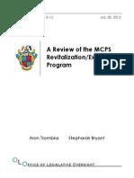 MCPS Revitalization Expansion Program 2015-12