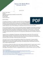 Speier's FIFA Letter To Blatter
