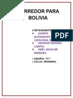Corredor Para Bolivia