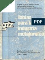 tablas para la industria metalmecanica
