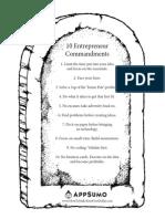 10-Commandments for Entrepreneurs - Appsumo