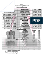 Douglas County High School Football Schedules (1)