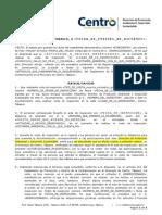 F-xxx Resolución Por No Presentar Documentacion