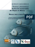 Criterios Tecnicos y Economicos Para La Produccion Sustentable de Tilapia en Mexico Manual Para El Productor