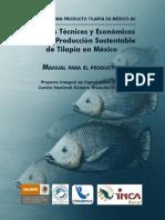 Criterios Tecnicos y Economicos Para La Produccion Sustentable de Tilapia en Mexico Manual Para El Productor