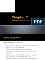 Report. Introduction to Legal Research Process