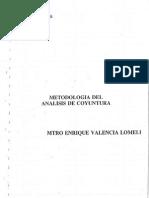 Valencia, Enrique - Metodología Del Análisis de Coyuntura