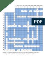Analisis Financiero Crucigrama