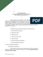 Circulaire DGI Maroc - secteur BTP