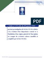 loi_n°35-96-Dépositaire central