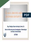 O Novo Decreto Estadual e as Áreas Contaminadas