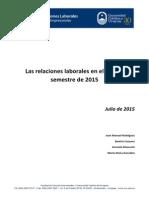 Informe de relaciones laborales - primer semestre 2105