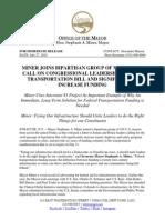 Congress Transportation Letter