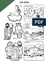 La Historia de Jonás - Recortes - The Story of Jonah - Cutouts