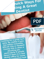 Some Quick Ways for Getting a Great Dentist