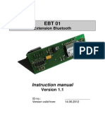 Instruction Manual - Eaton Internormen EBT 01 - Extension Bluetooth, 1.1, e