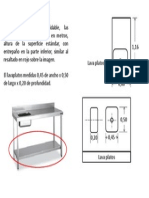 Dimensiones Superficie en Acero Inoxidable 2