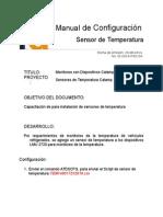 Manual de Configuración de Sensor de Temperatura